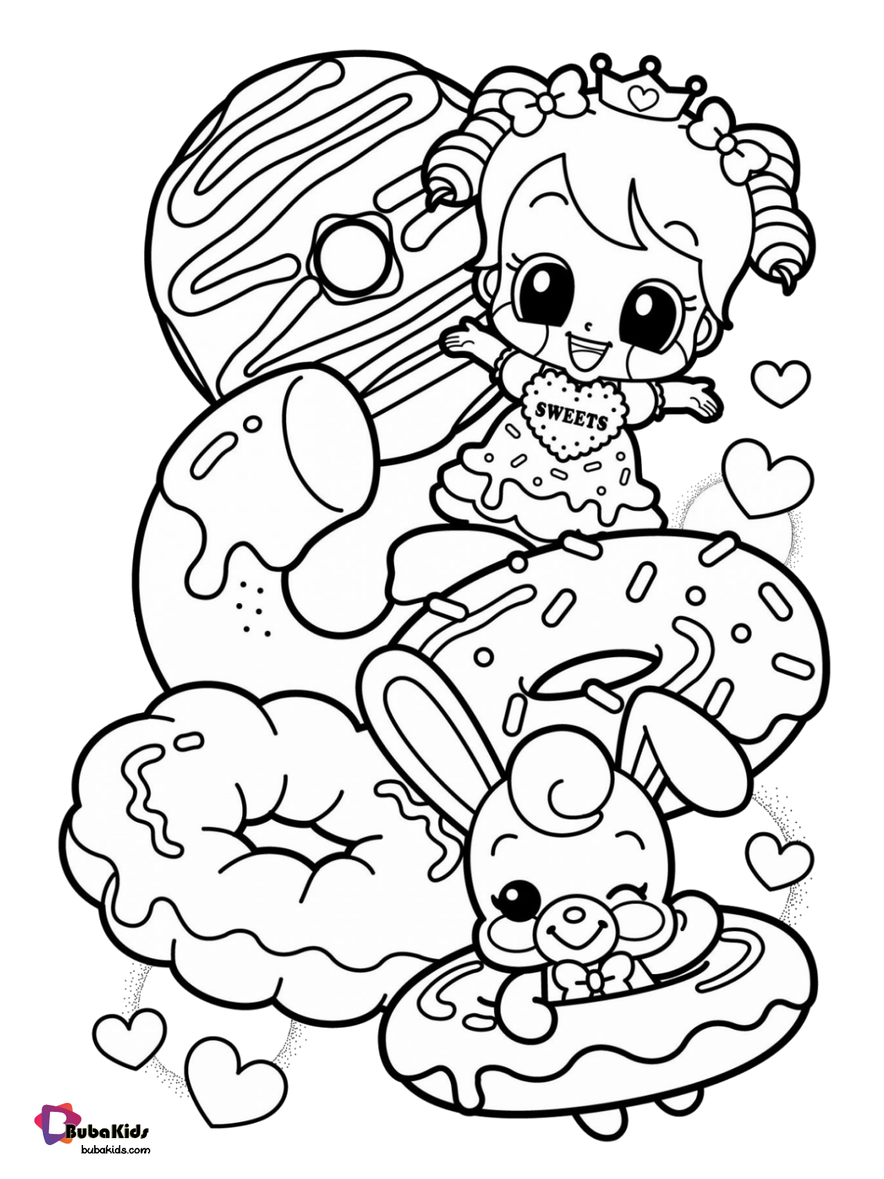 coloring page donut food donuts coloring page collection of cartoon coloring donut page coloring