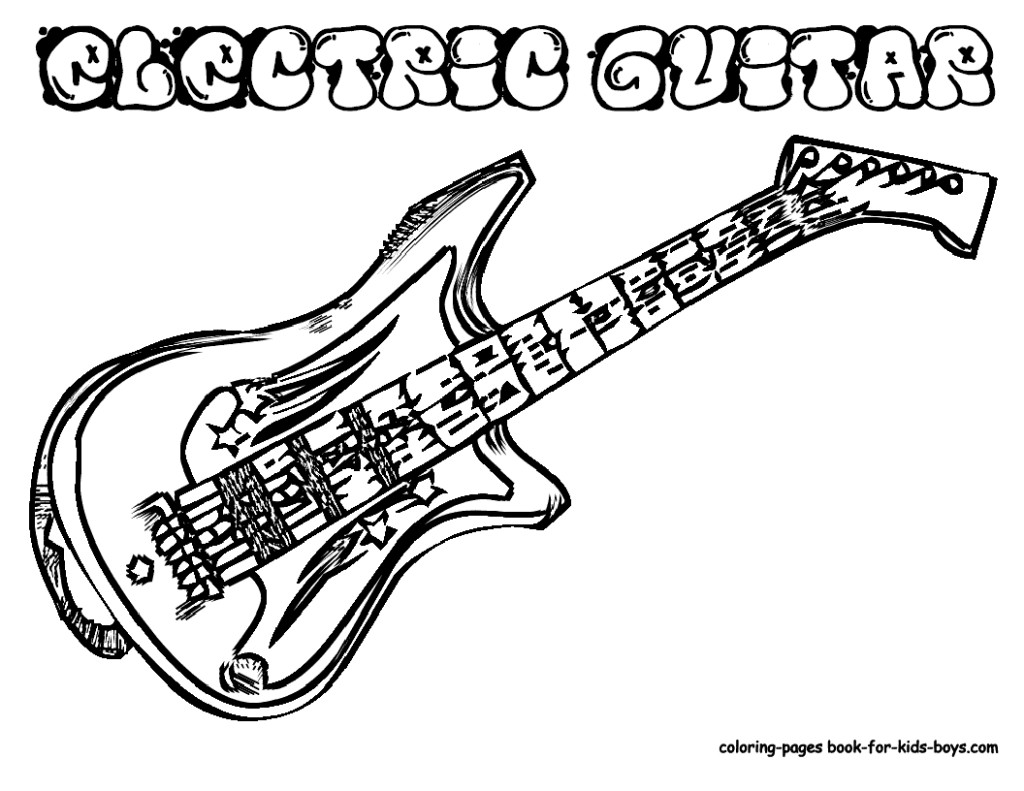 coloring page guitar electric guitar coloring page free printable coloring pages page guitar coloring