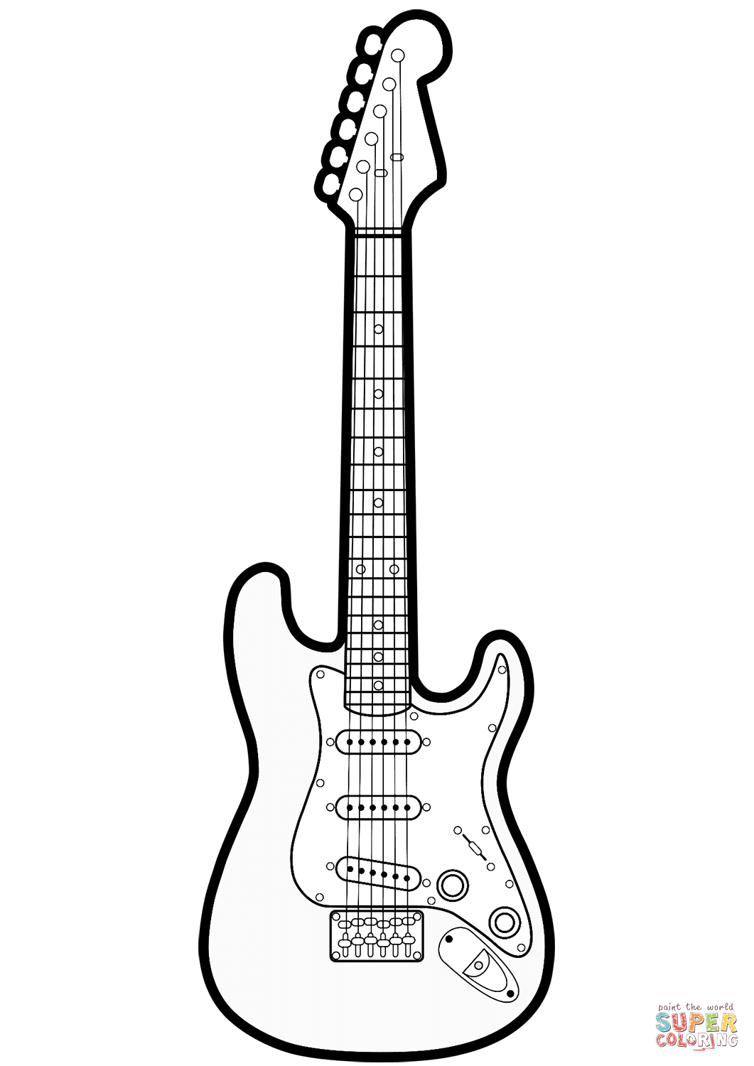 coloring page guitar electric guitar line drawing at getdrawings free download guitar page coloring