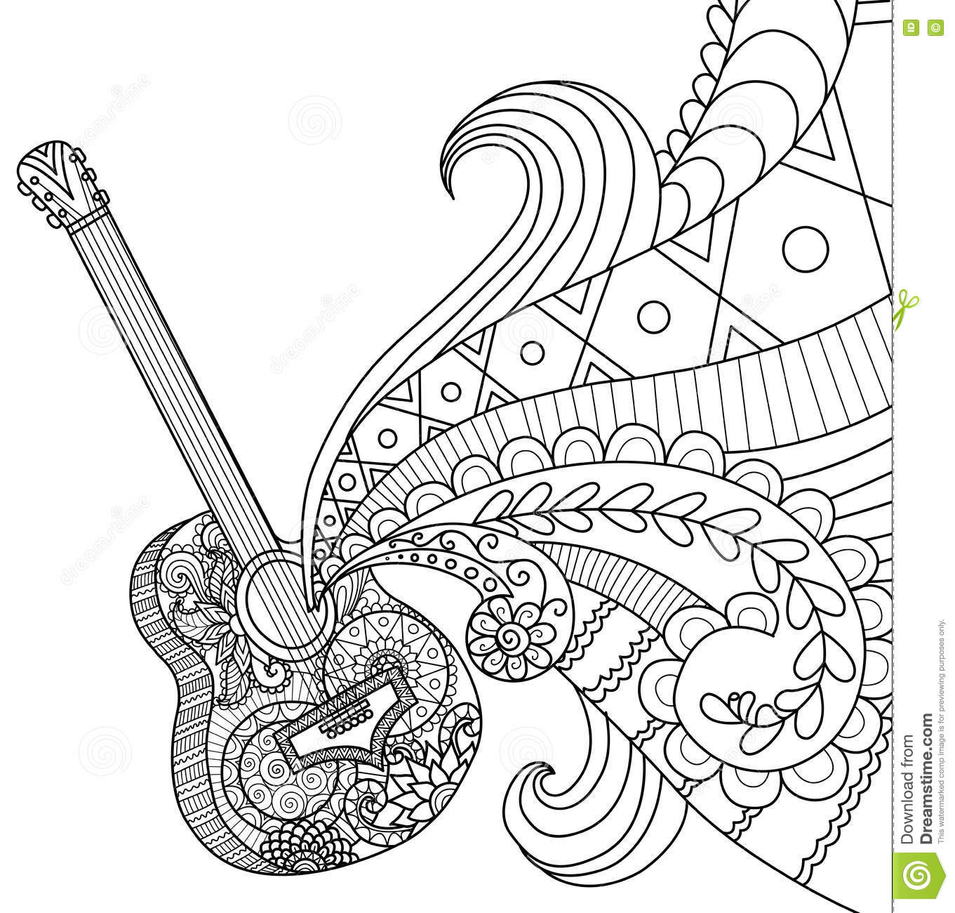 coloring page guitar guitar coloring pages to download and print for free page coloring guitar