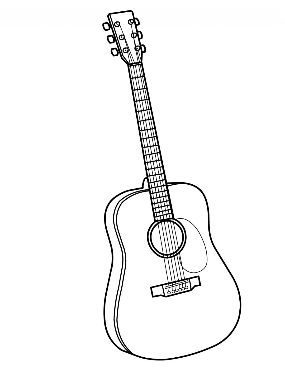 coloring page guitar guitar drawing easy at getdrawings free download guitar page coloring