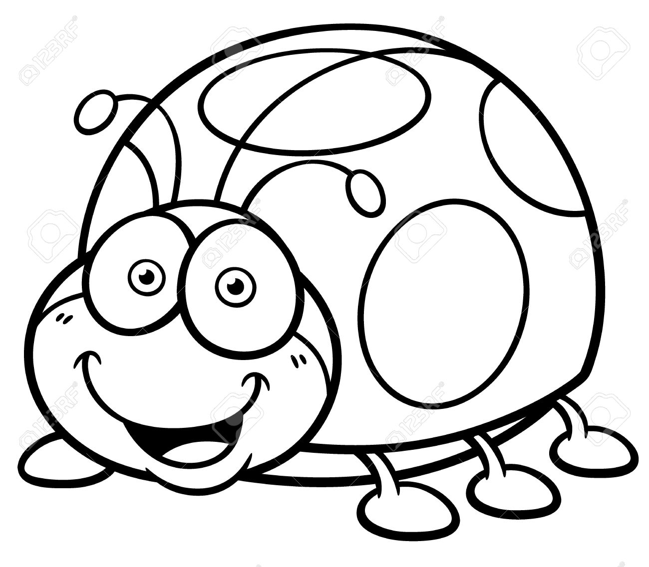 coloring page ladybug line art of cute ladybug with hearts free clip art page ladybug coloring