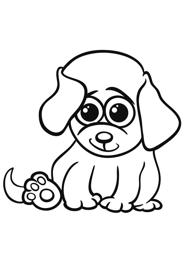 coloring page of a dog free printable dogs and puppies coloring pages for kids of coloring dog page a