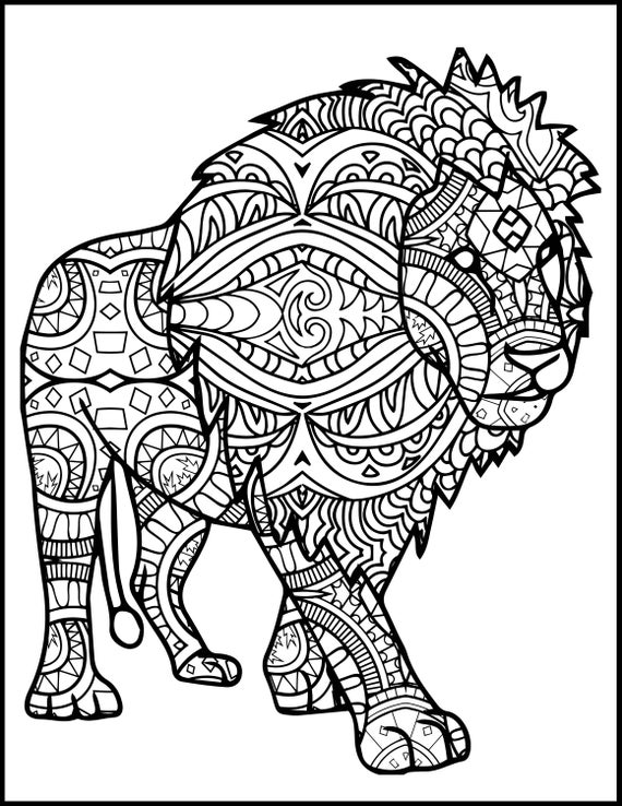 coloring page of a lion 3 printable pages for coloring for lion lovers coloring etsy a coloring of page lion