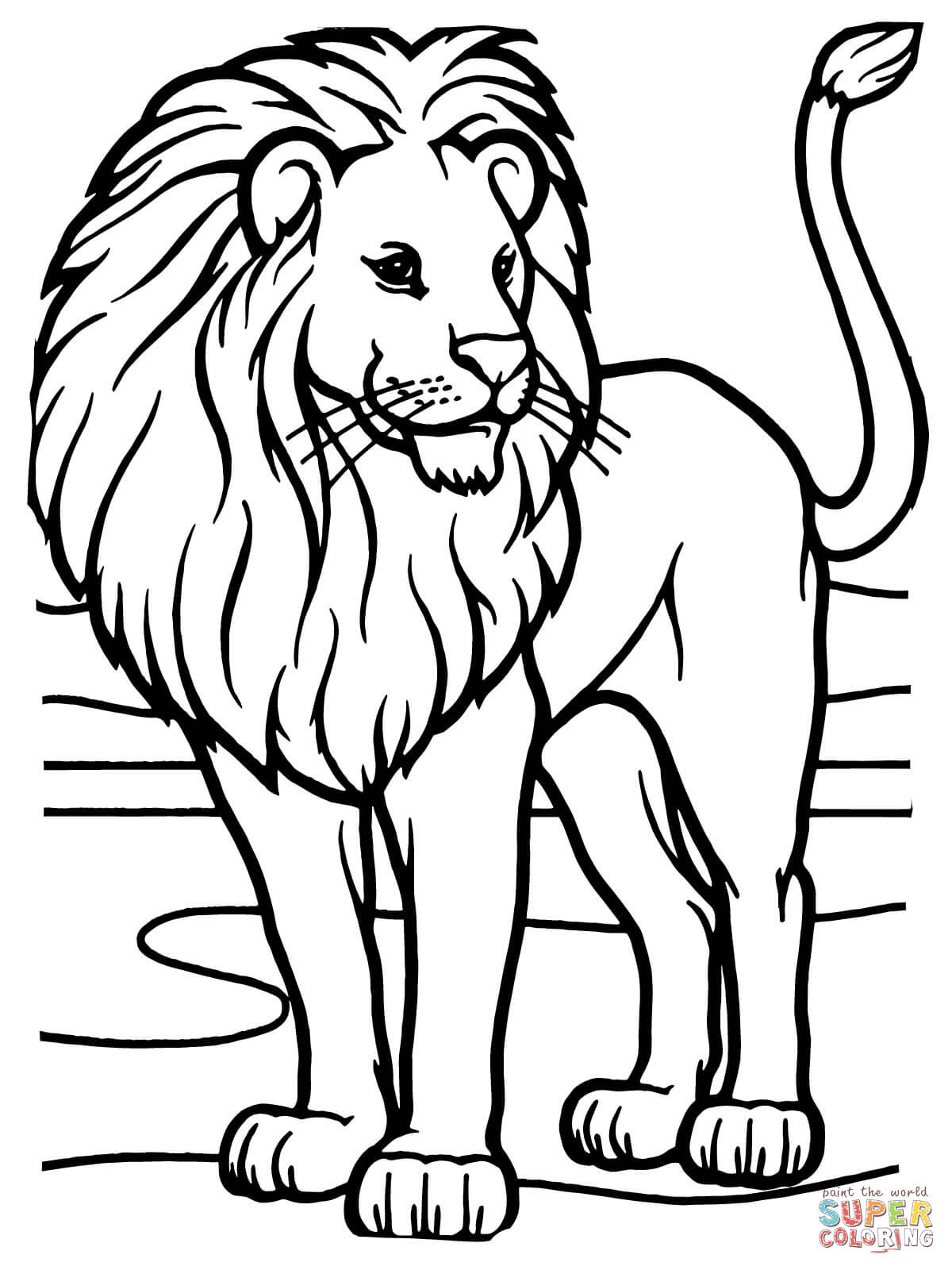 coloring page of a lion lion for kids lion kids coloring pages page coloring of a lion