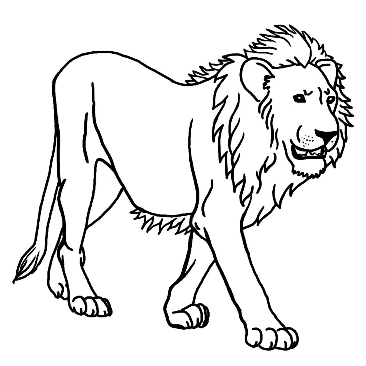coloring page of a lion lion free to color for children lion kids coloring pages a of page lion coloring