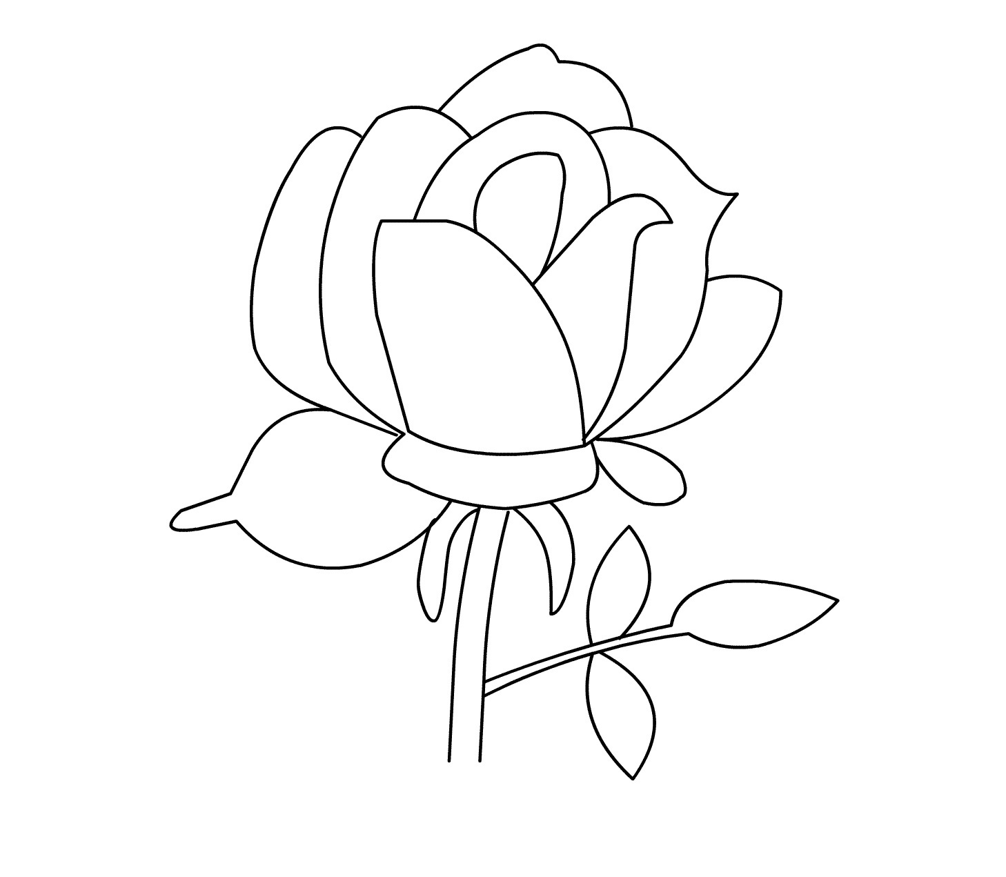 coloring page rose flower coloring pages rose coloring page