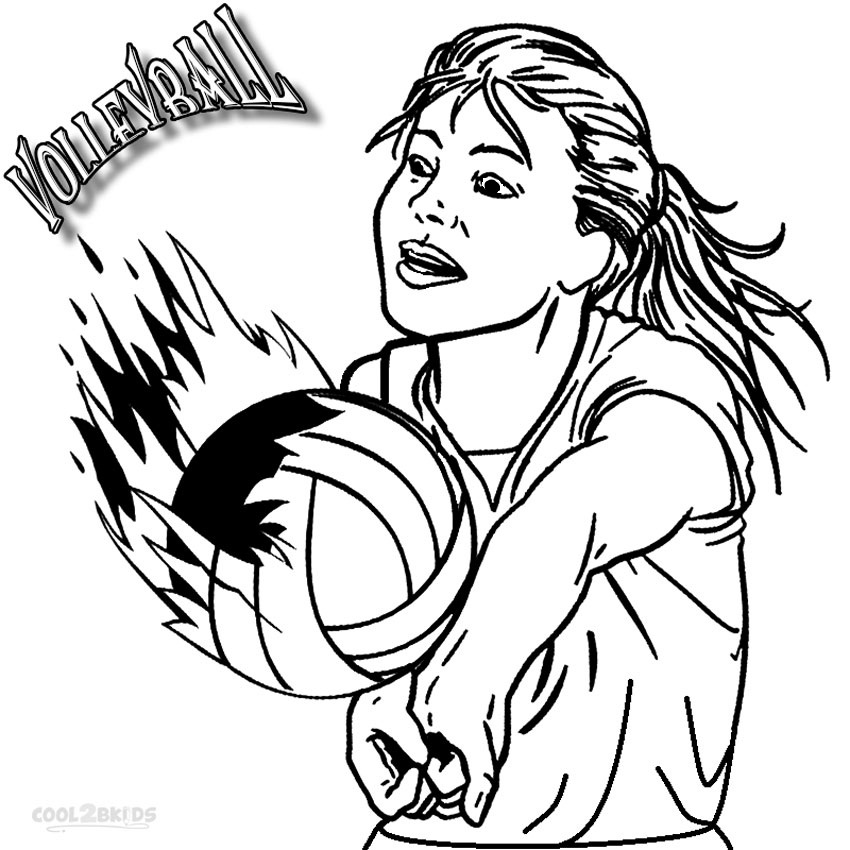 coloring page volleyball printables printable volleyball coloring pages for kids cool2bkids coloring volleyball page printables