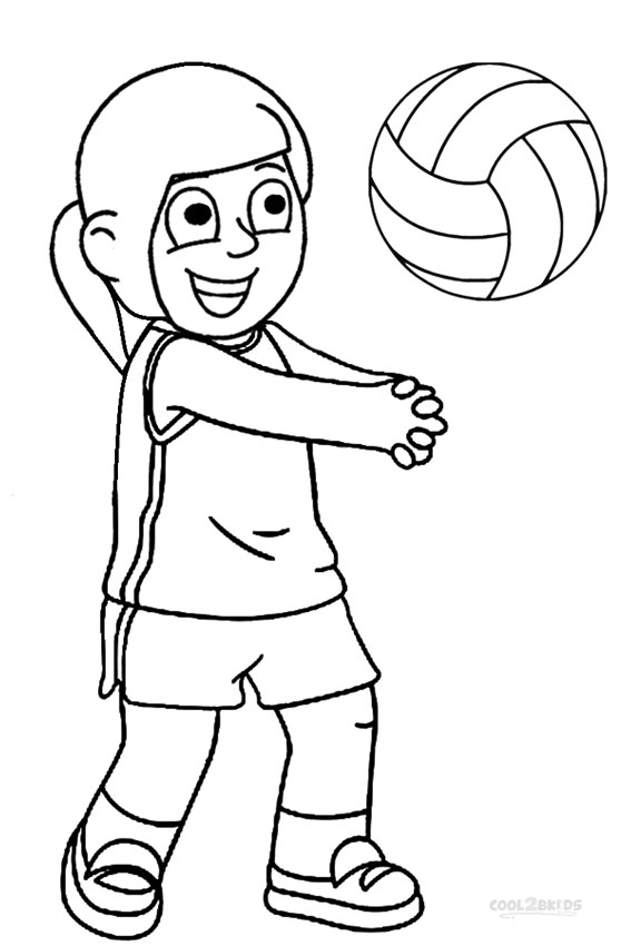 coloring page volleyball printables printable volleyball coloring pages for kids cool2bkids page volleyball printables coloring