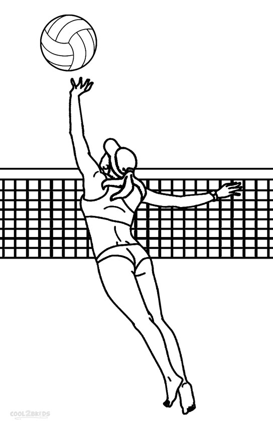 coloring page volleyball printables printable volleyball coloring pages for kids cool2bkids printables volleyball coloring page