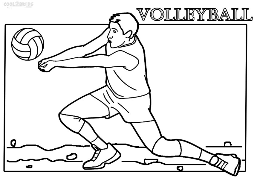 coloring page volleyball printables printable volleyball coloring pages for kids cool2bkids volleyball coloring page printables