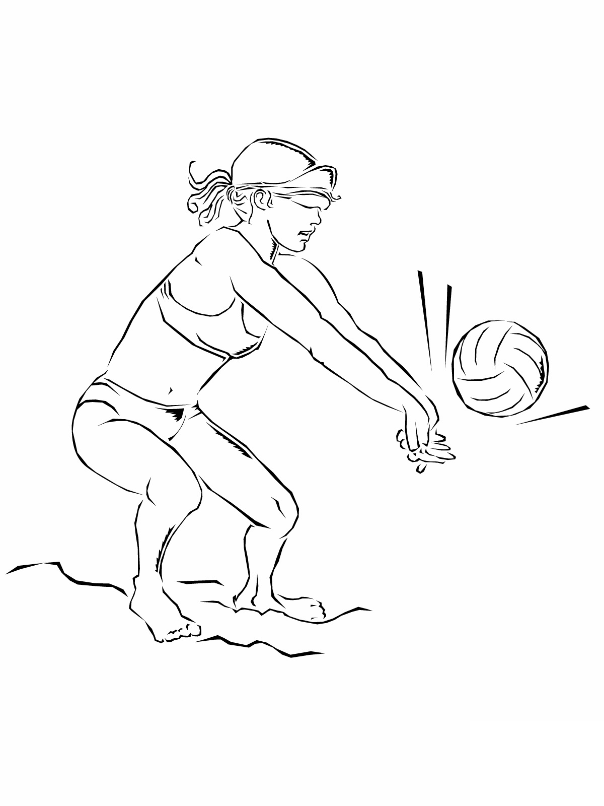 coloring page volleyball printables woman plays volleyball coloring page free volleyball page printables coloring volleyball