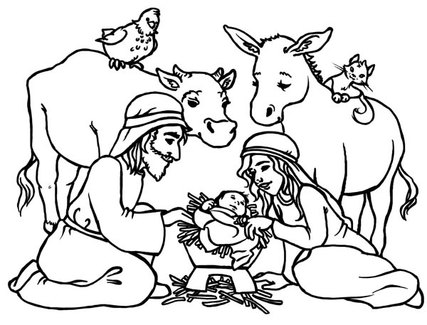 coloring pages baby jesus in manger baby jesus in a manger in nativity coloring page color luna in baby jesus manger coloring pages