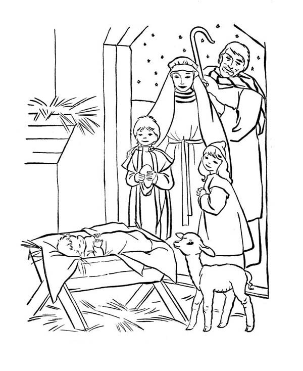 coloring pages baby jesus in manger depiction of baby jesus nativity coloring page kids play jesus coloring baby manger in pages