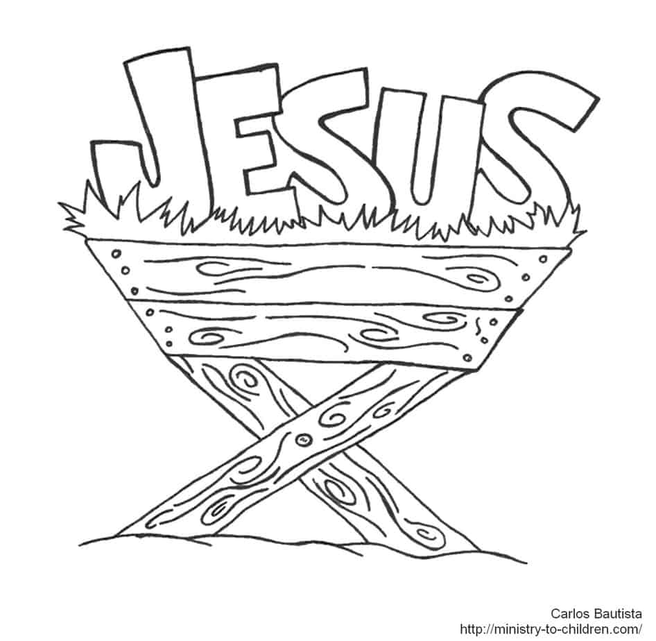 coloring pages baby jesus in manger jesus in manger coloring page coloring in pages jesus manger baby