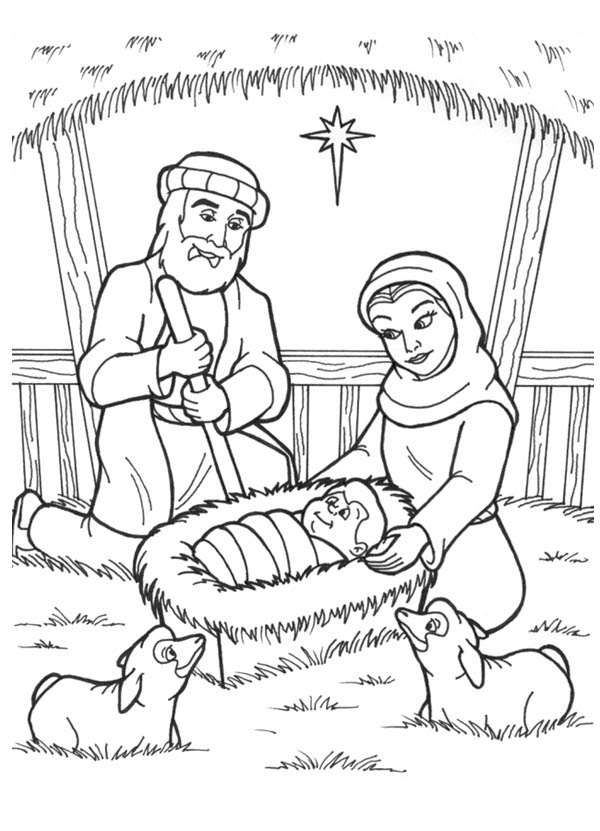 coloring pages baby jesus in manger manger coloring page at getcoloringscom free printable manger in jesus coloring pages baby