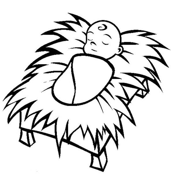 coloring pages baby jesus in manger pictures of baby jesus in a manger clipartsco jesus baby in coloring pages manger