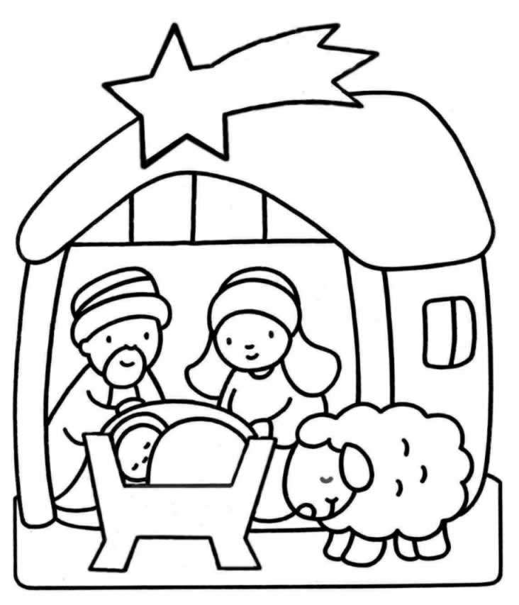 coloring pages baby jesus in manger pictures of baby jesus in a manger clipartsco pages jesus coloring baby in manger
