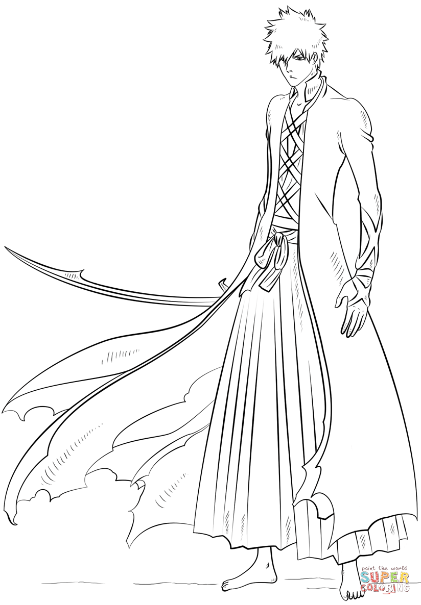 coloring pages bleach 15 coloring pages of bleach print color craft bleach coloring pages