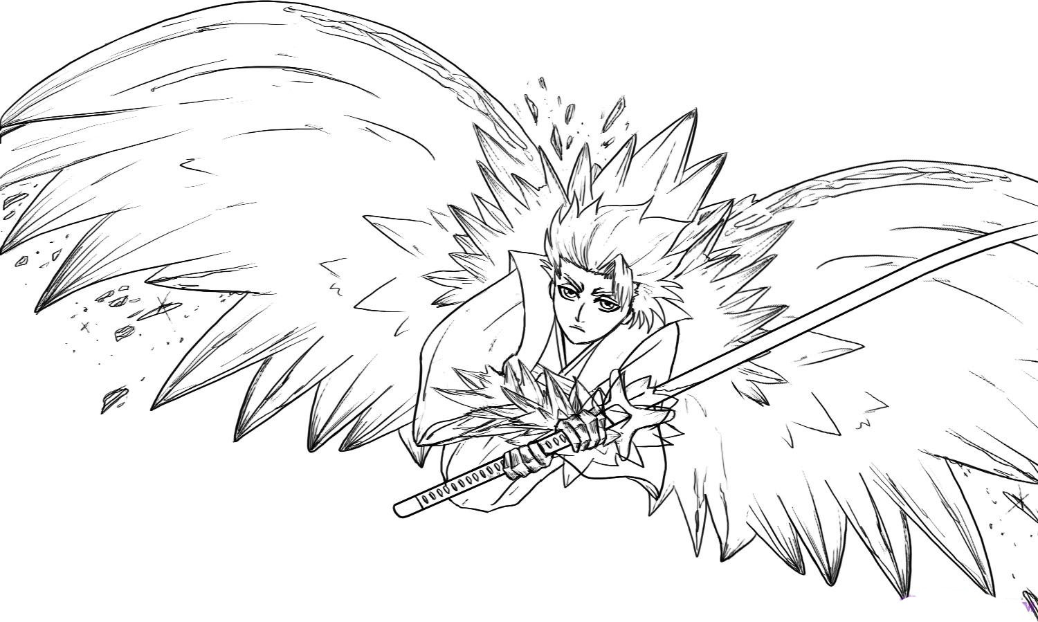coloring pages bleach bleach 298 byakuya lineart by xset on deviantart bleach pages coloring