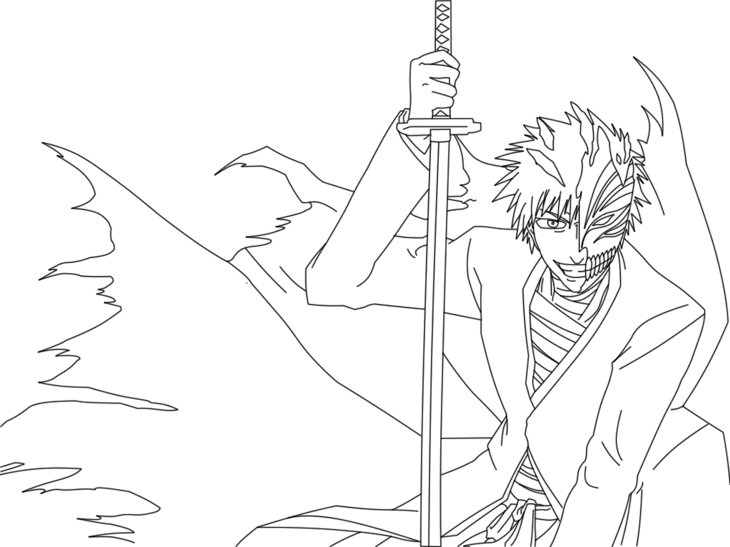 coloring pages bleach how to draw ichigo step by step bleach characters anime bleach pages coloring