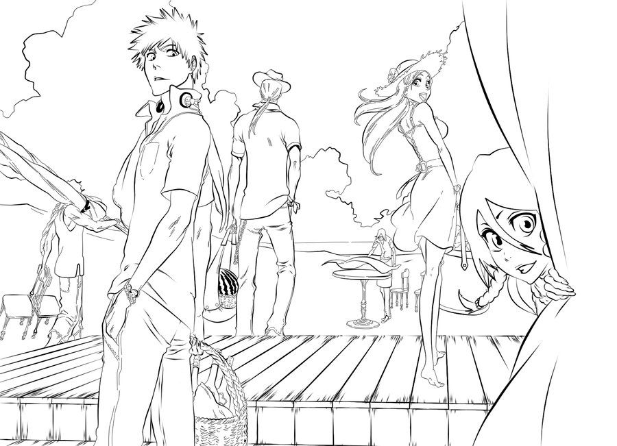coloring pages bleach ichigo coloring pages coloring home pages bleach coloring
