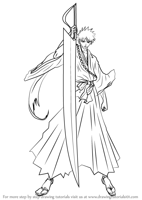 coloring pages bleach learn how to draw ichigo kurosaki from bleach bleach pages bleach coloring