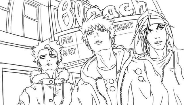coloring pages bleach learn to coloring february 2012 coloring bleach pages
