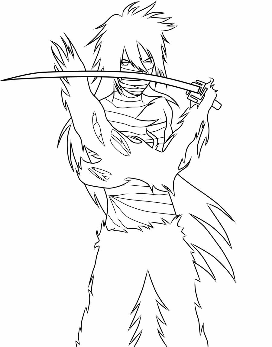 coloring pages bleach lineart hitsugaya toshirou by piko chan4ever coloring bleach pages