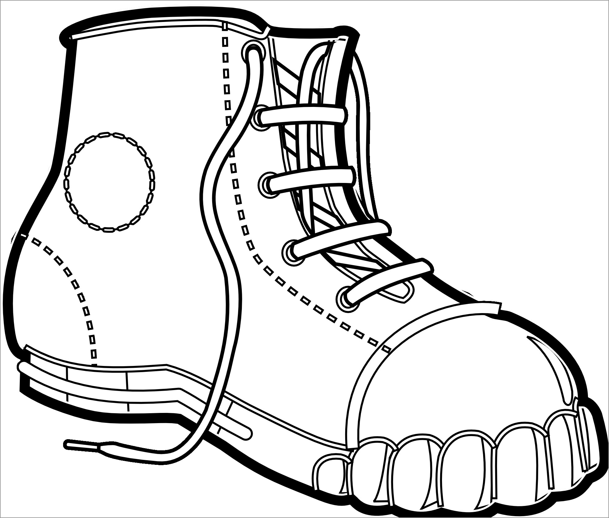 coloring pages boots cowgirl boot clipart outline 20 free cliparts download pages boots coloring