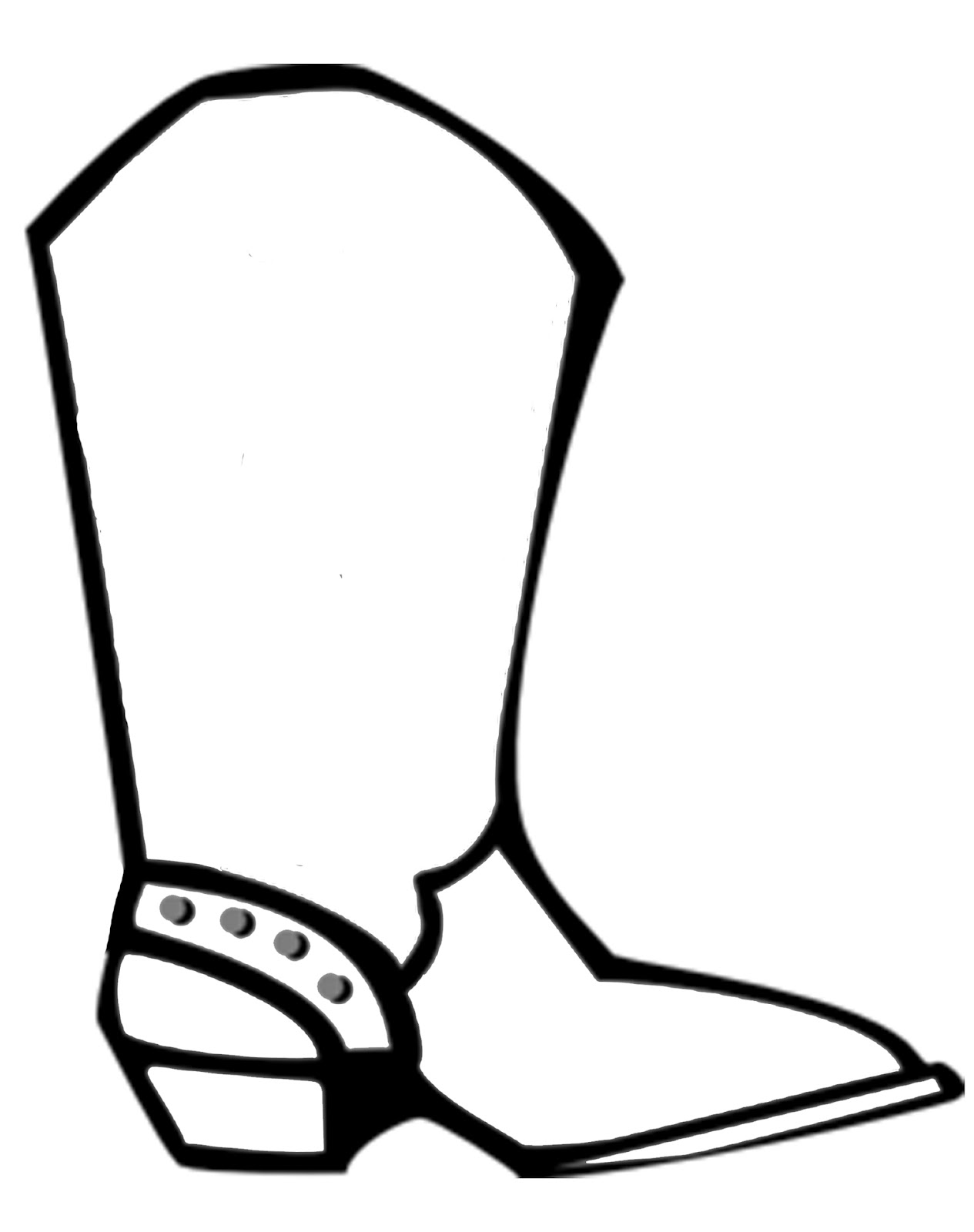 coloring pages boots free cartoon cowboy boots download free clip art free pages coloring boots