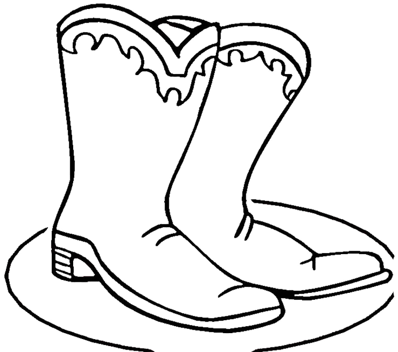 coloring pages boots free printable cowboy coloring pages for kids coloring boots pages