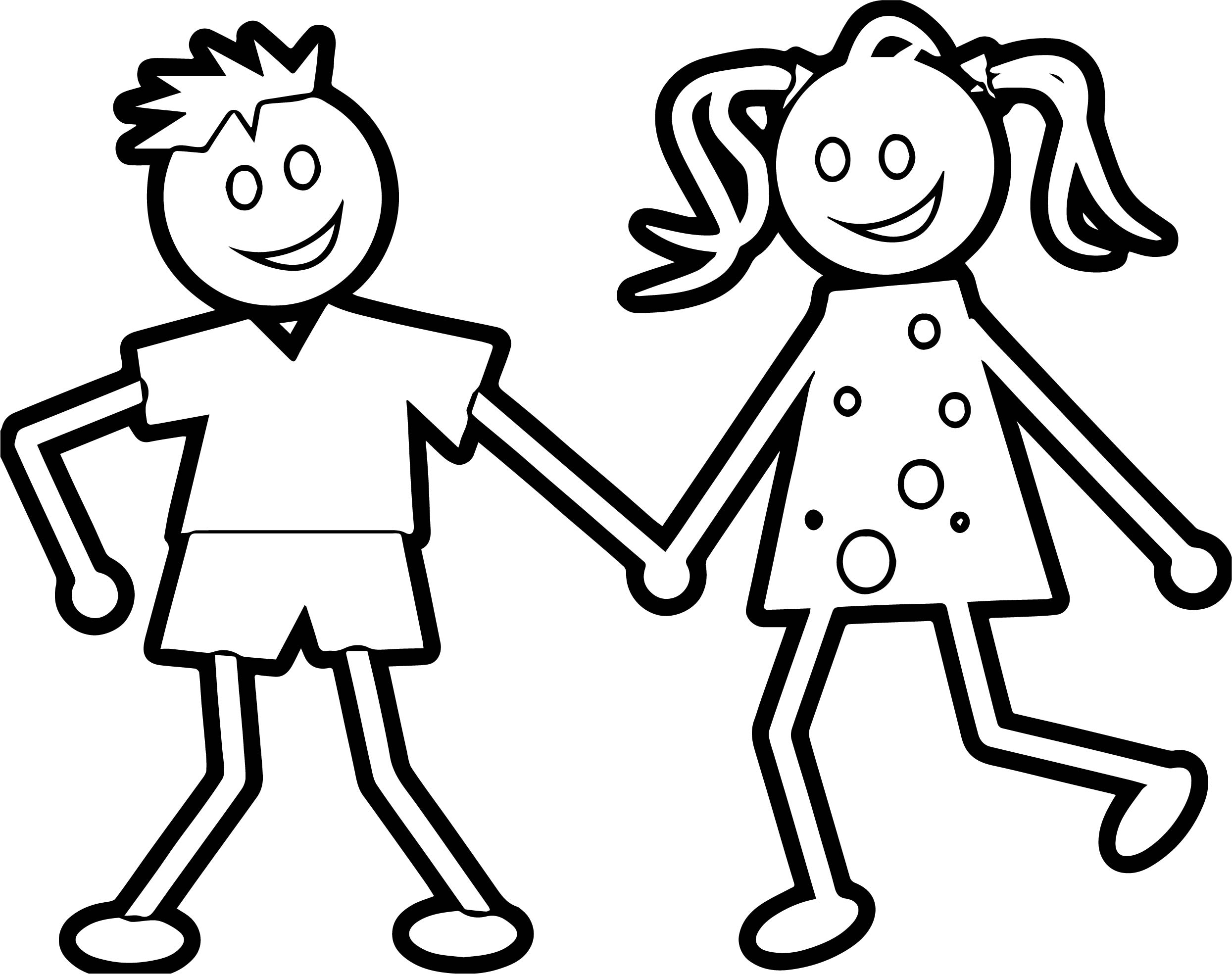 coloring pages boys and girls girl and boy with ball coloring page stock illustration pages coloring boys girls and