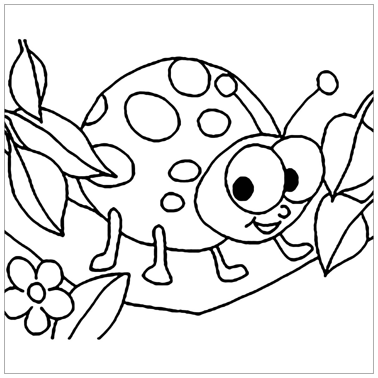 coloring pages bugs cute bug drawing at getdrawings free download bugs pages coloring