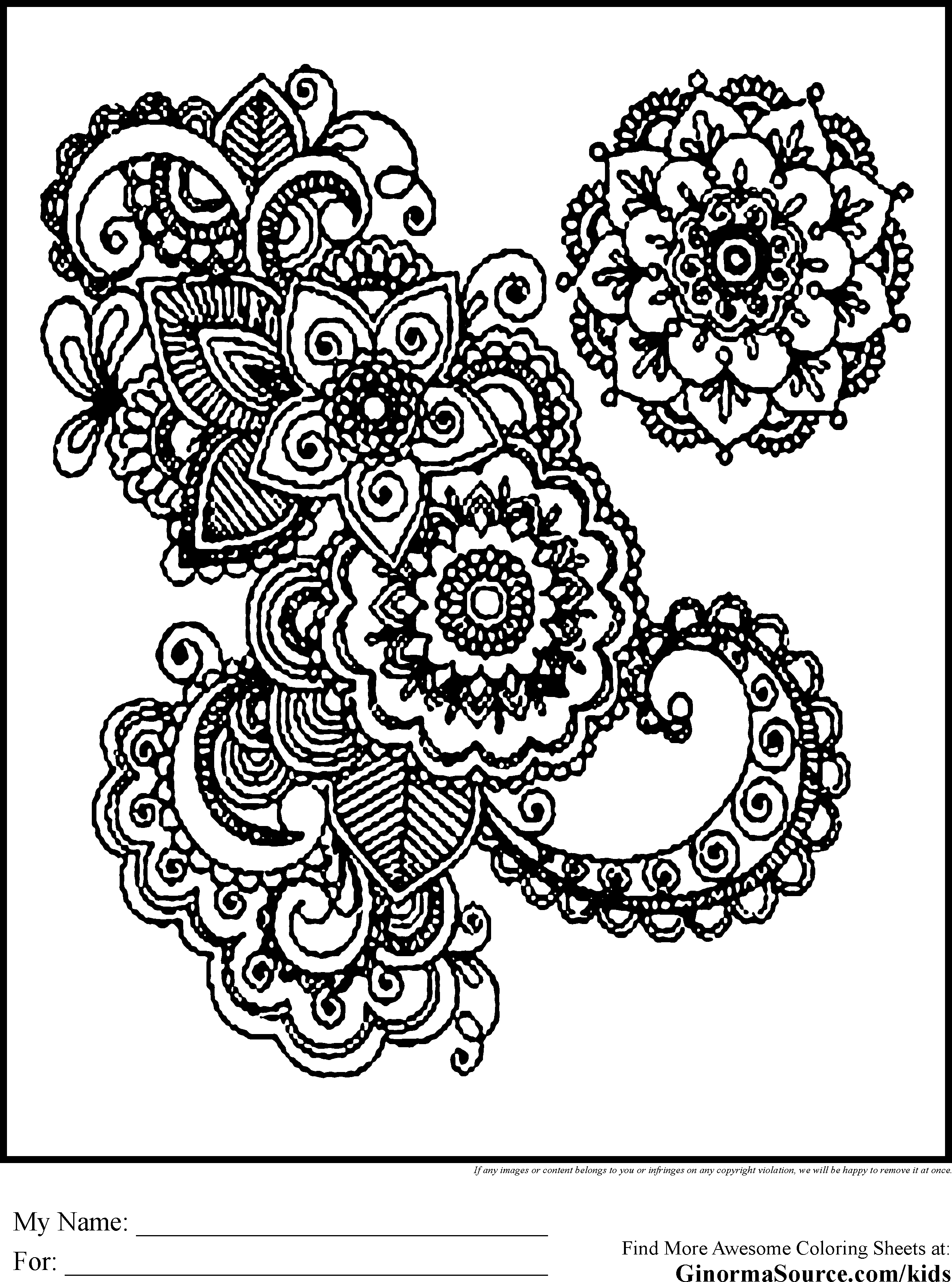 coloring pages designs free printable abstract coloring pages for adults coloring designs pages