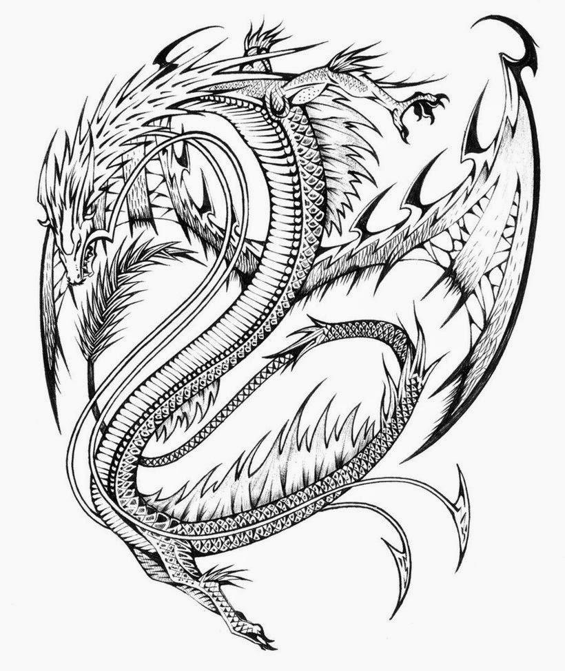 coloring pages dragon realistic flames drawing at getdrawings free download coloring dragon pages