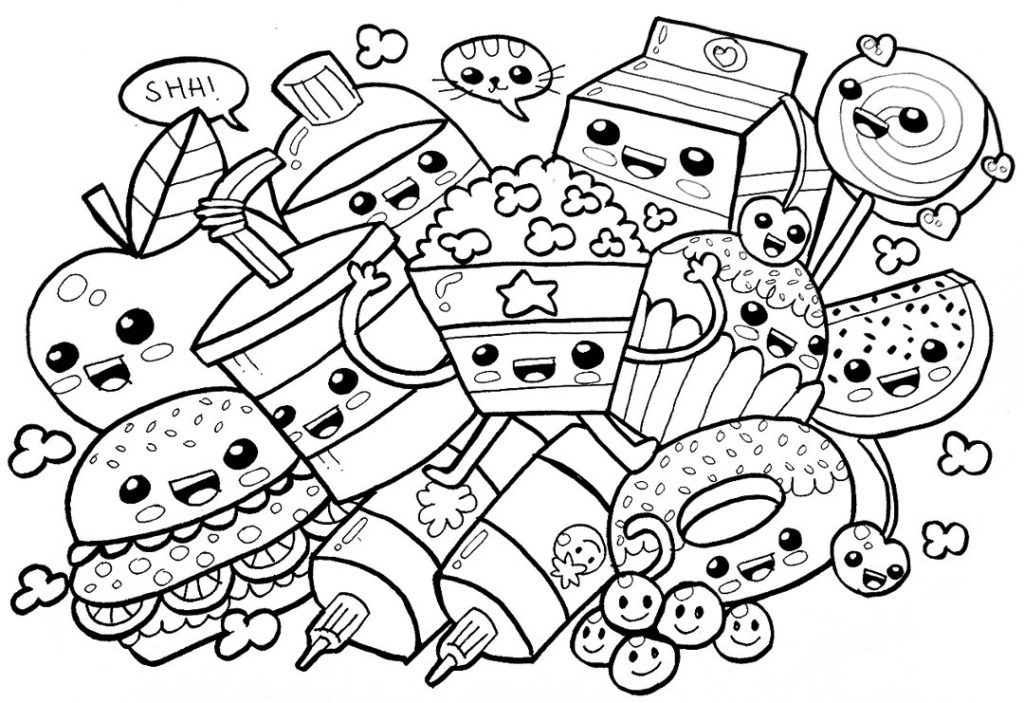 coloring pages food easy and simple food coloring pages for kids bubakidscom food pages coloring