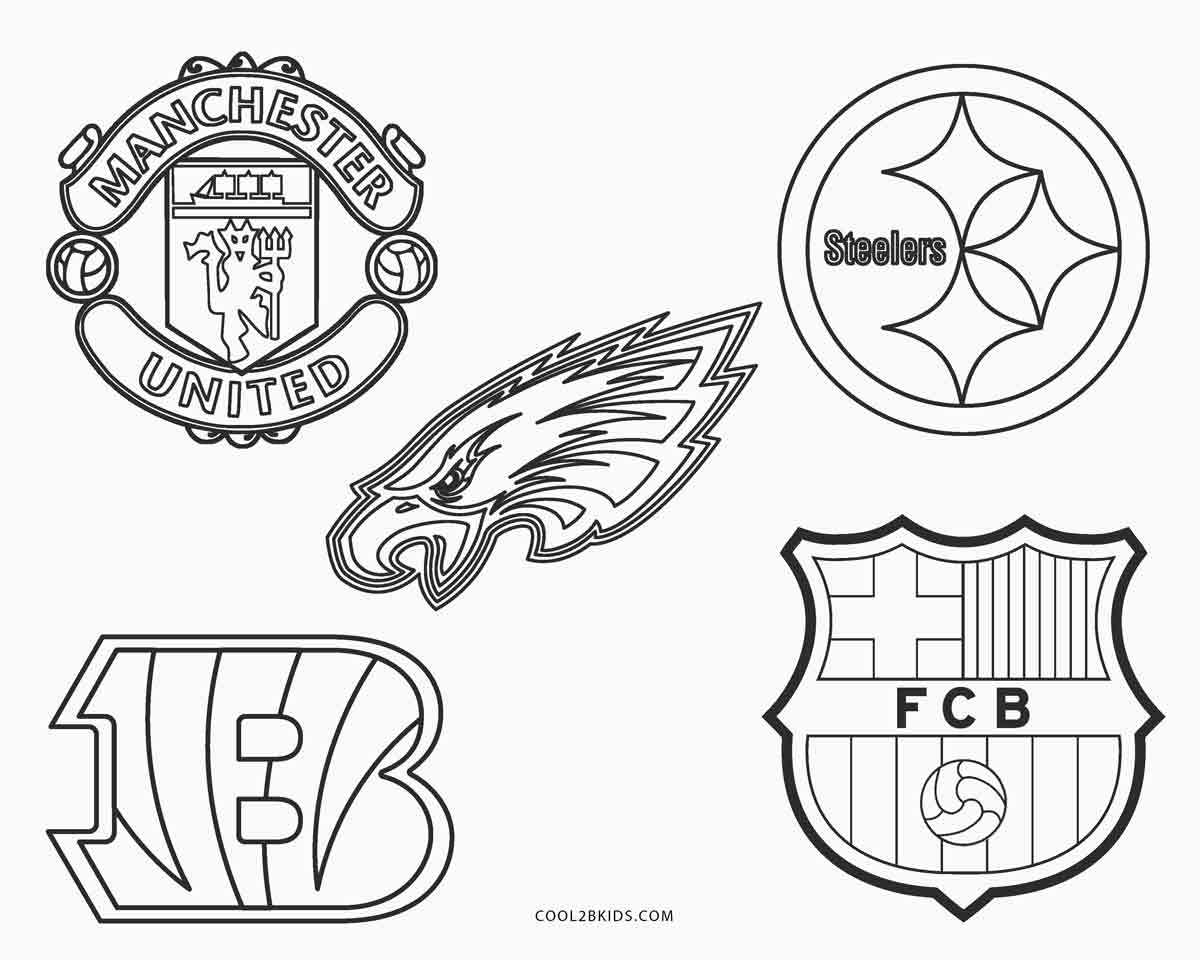 coloring pages football teams cool coloring pages nfl teams logos coloring pages cool coloring pages football teams