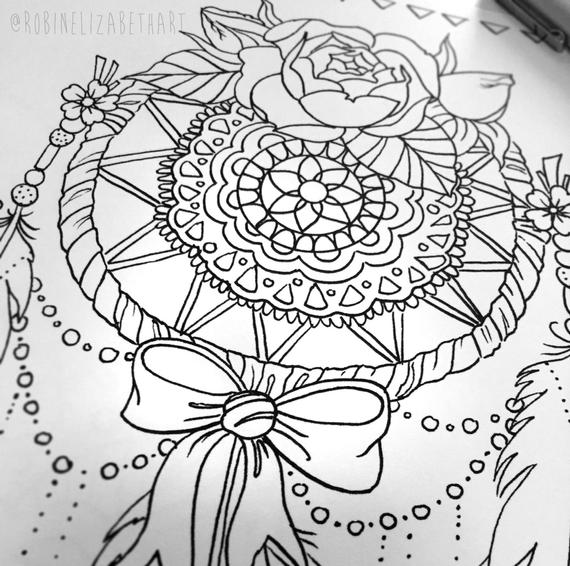 coloring pages for adults dream catchers 114 best images about dreamcatcher coloring pages for for pages catchers coloring dream adults