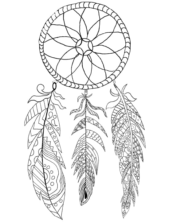 coloring pages for adults dream catchers dream catcher coloring printable page dream catcher pages adults dream catchers coloring for