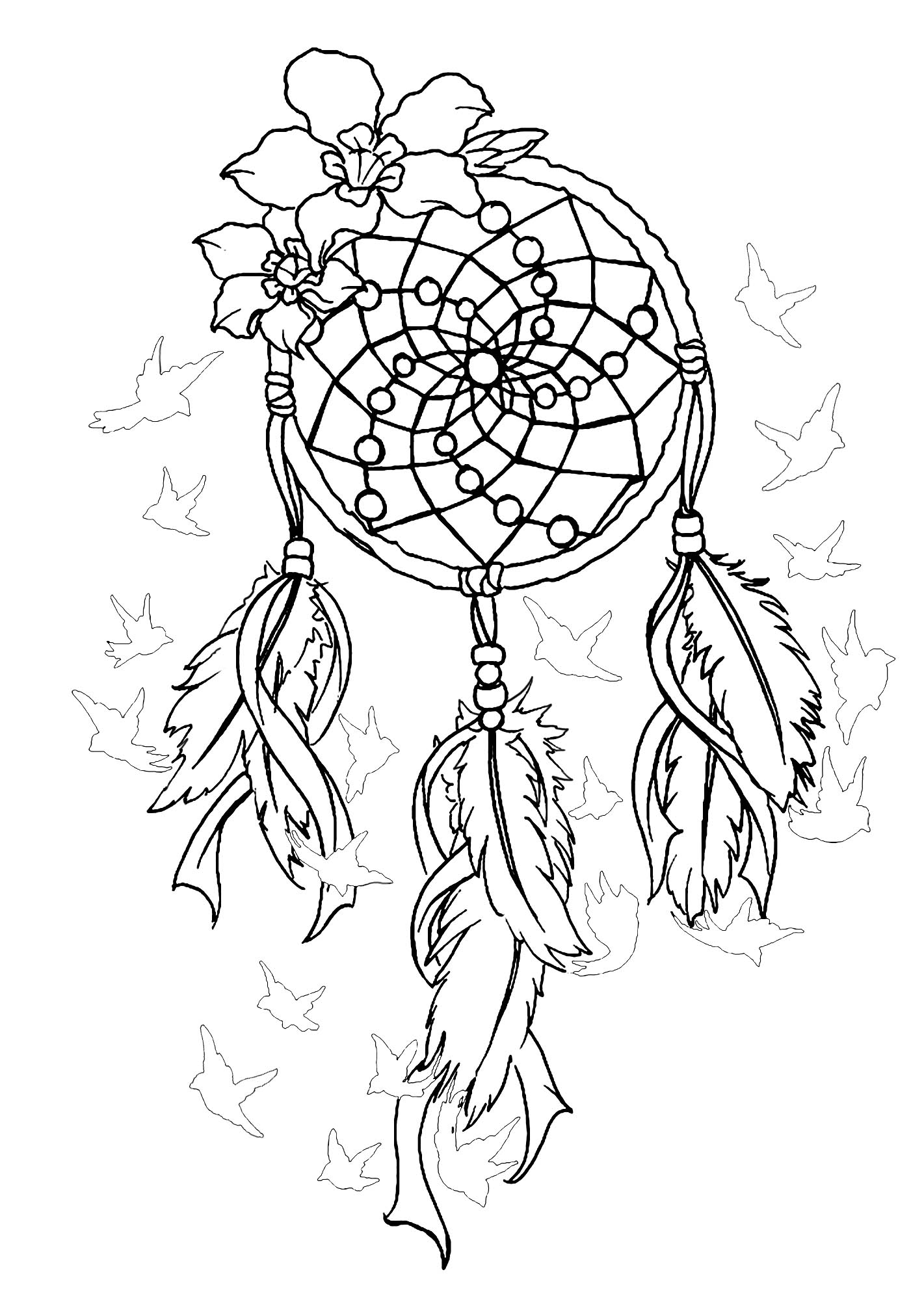 coloring pages for adults dream catchers dreamcatcher doodle art sabadoodle adults for catchers pages coloring dream