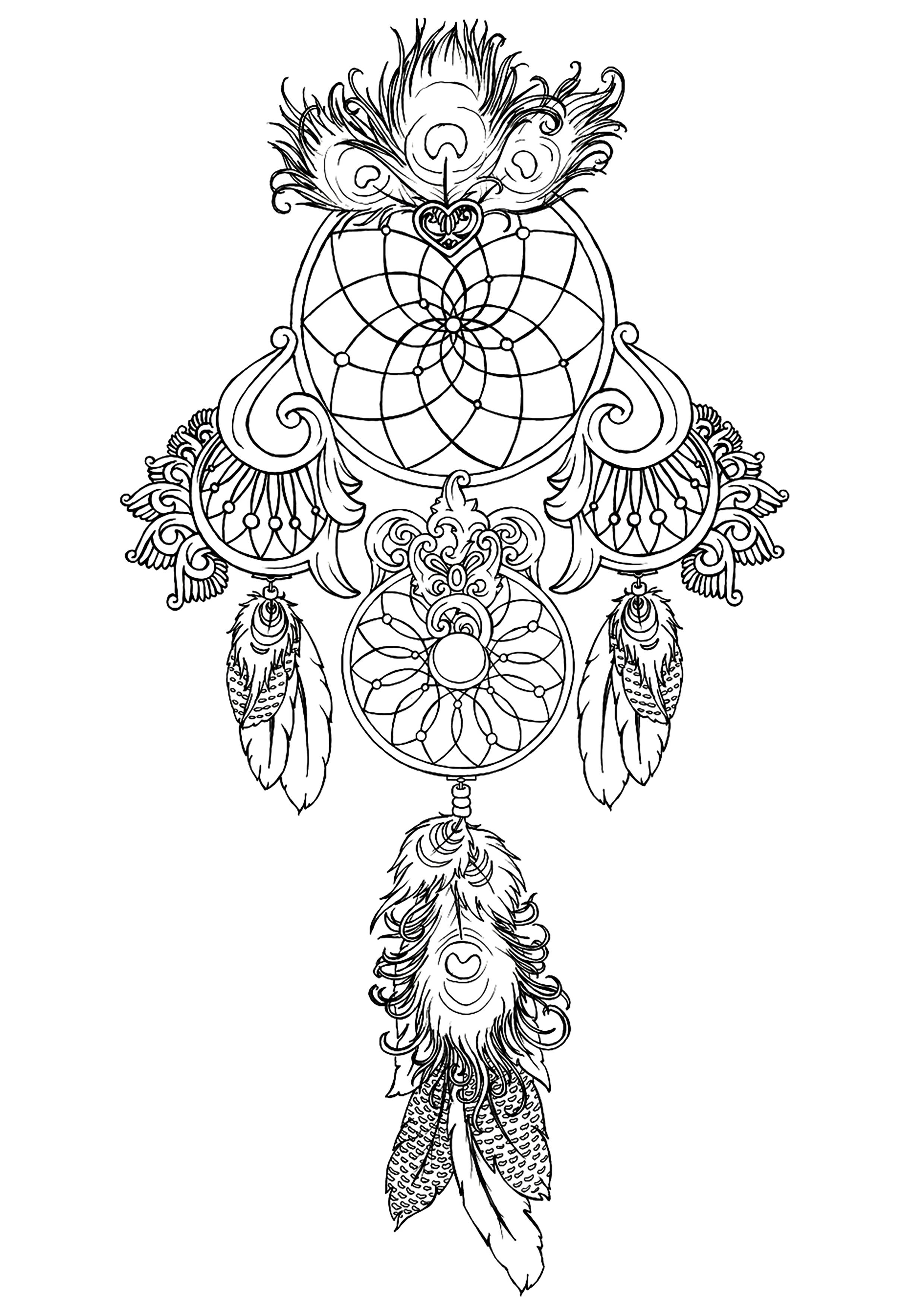 coloring pages for adults dream catchers free dream catcher coloring pages for adults printable to coloring dream adults catchers pages for