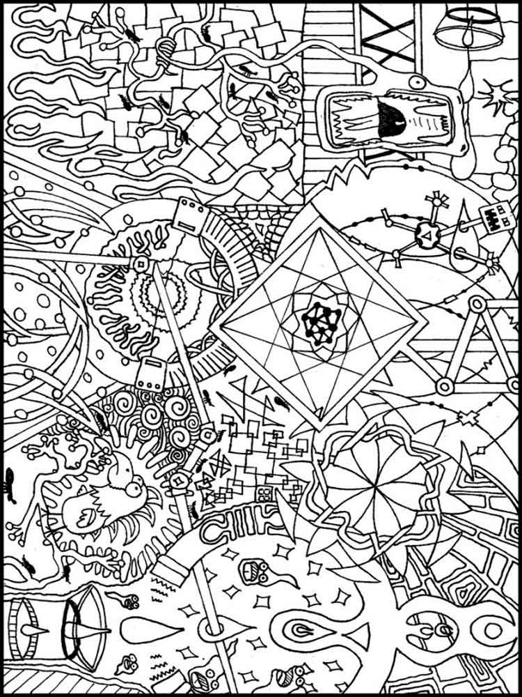 coloring pages for adults trippy strange creature and wacky objects psychedelic adult trippy coloring pages adults for