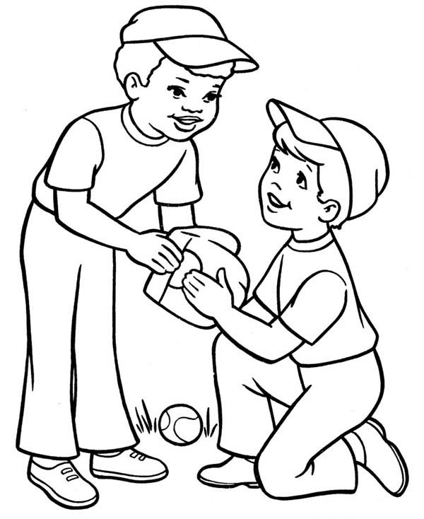coloring pages for boys printable two boys playing baseball coloring page download print coloring printable for pages boys
