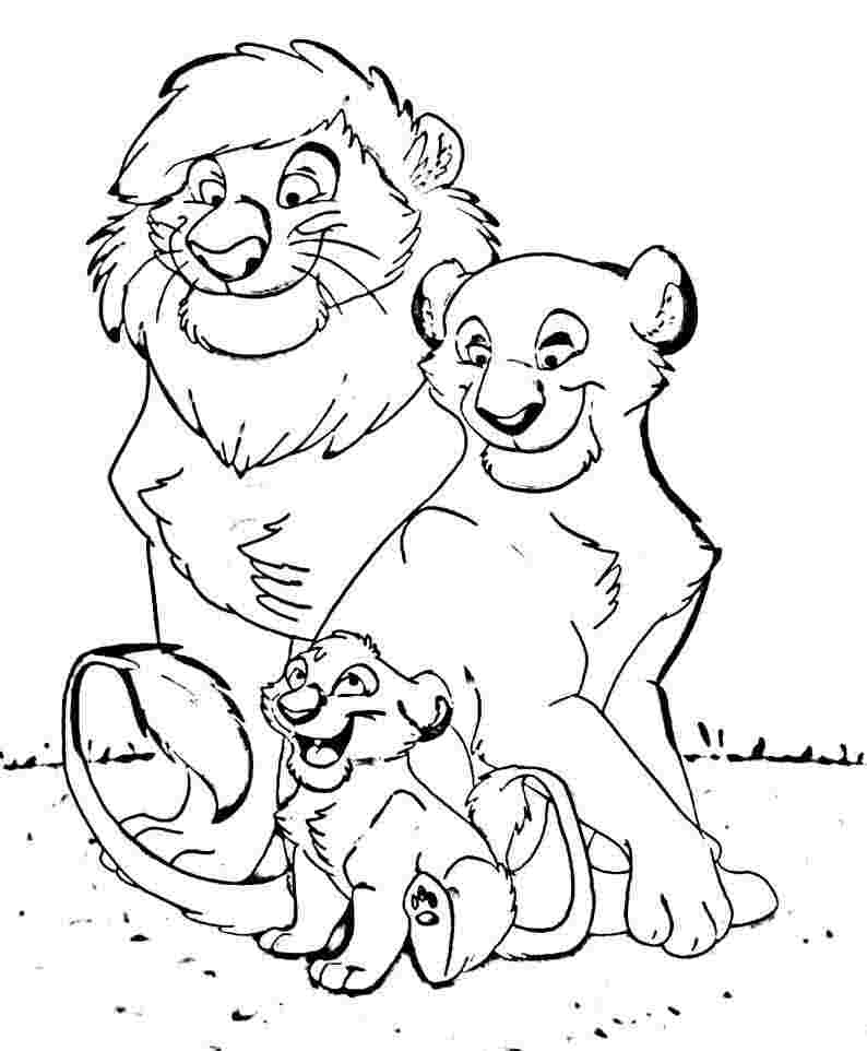 coloring pages for kids lion animal family coloring page coloring home kids coloring lion pages for