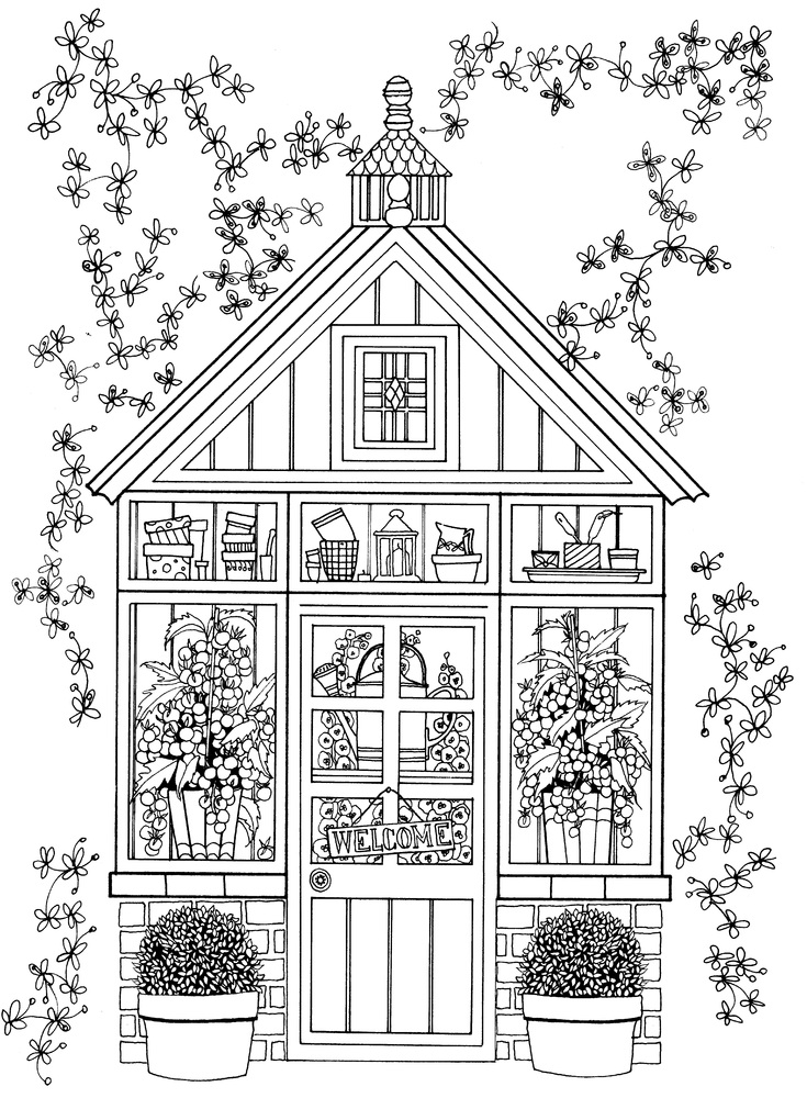 coloring pages house with garden 236 best garden coloring pages images on pinterest house with coloring pages garden