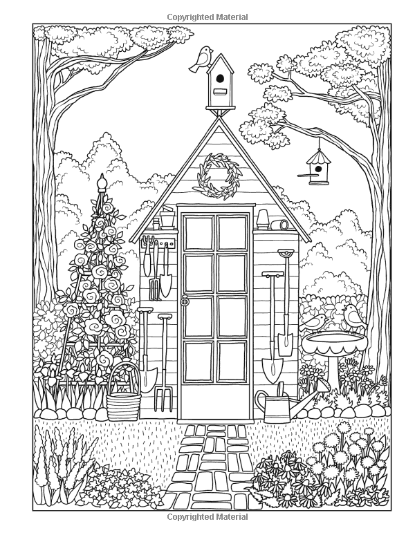 coloring pages house with garden bird house at flower garden coloring pages best place to coloring pages with house garden