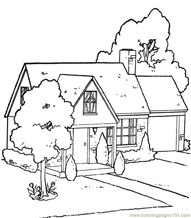 coloring pages house with garden free coloring pages printable pictures to color kids pages coloring with house garden