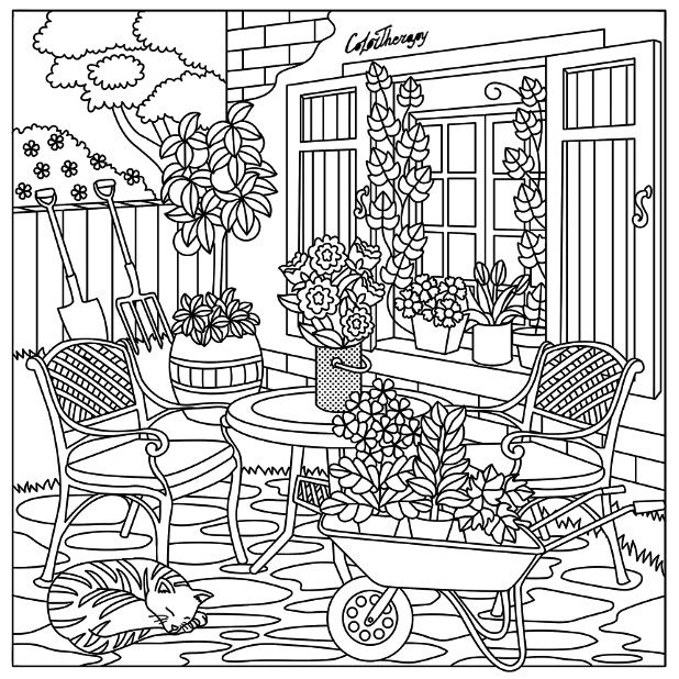 coloring pages house with garden free easy to print house coloring pages tulamama with house garden pages coloring