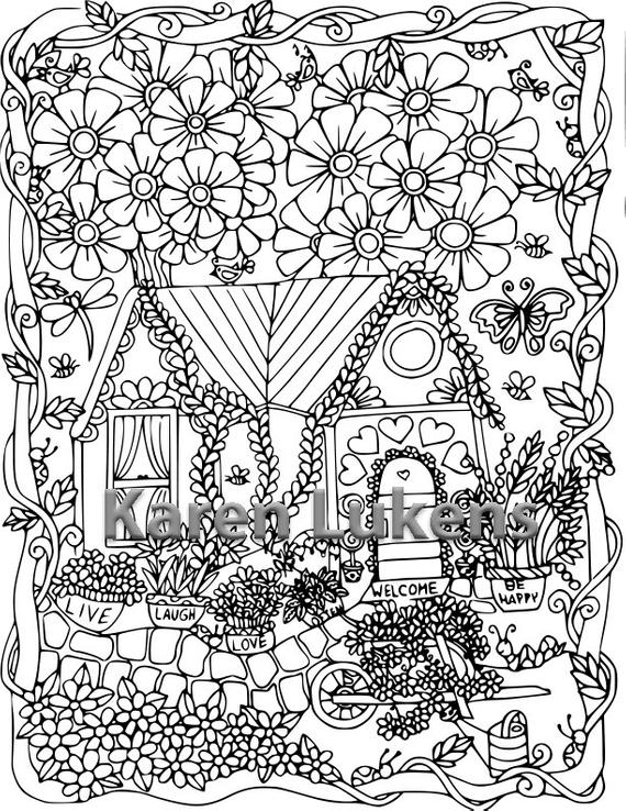 coloring pages house with garden garden coloring pages to download and print for free house coloring with garden pages